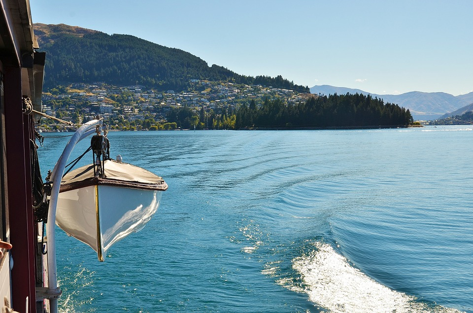 Lake, The Scenery, Ship, Village, Water