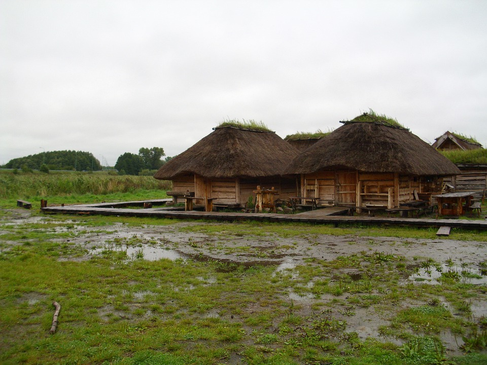 Farmhouse Museum, Thatched Roofs, Village, Museum, Mud