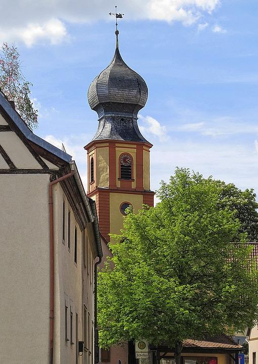 Steeple, Onion Dome, Village View, Alte Linde, Ensemble