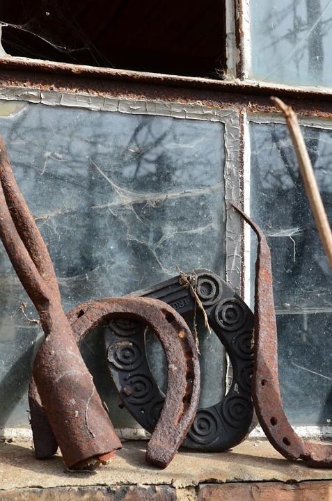 Horseshoe, Tool, Iron, Old, Village, Workshop
