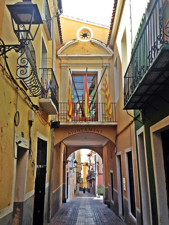 City Hall, Villajoyosa, Alicante, Street, Spain