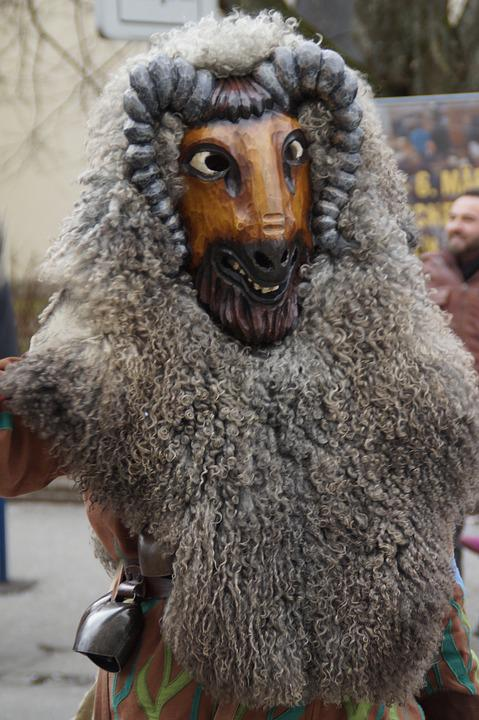 Bock, Goat Barn, Vineyard, Fur, Tiermaske