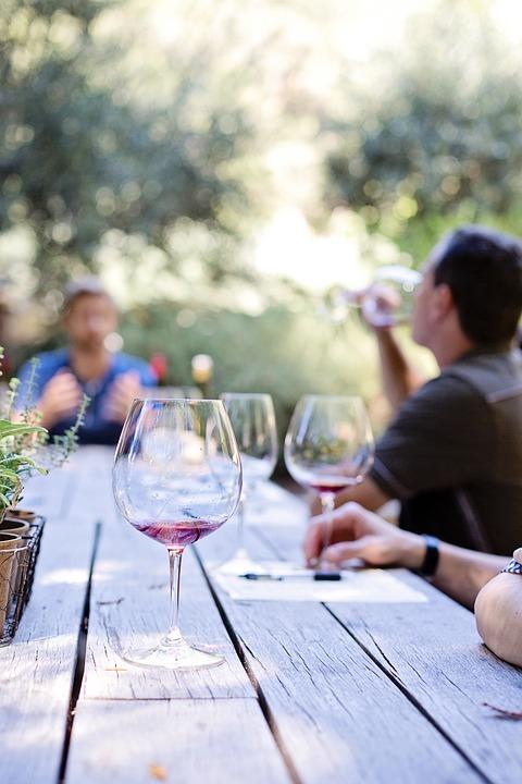 Wine Tasting, Winery, Vineyard, Napa, Wineglasses, Wine