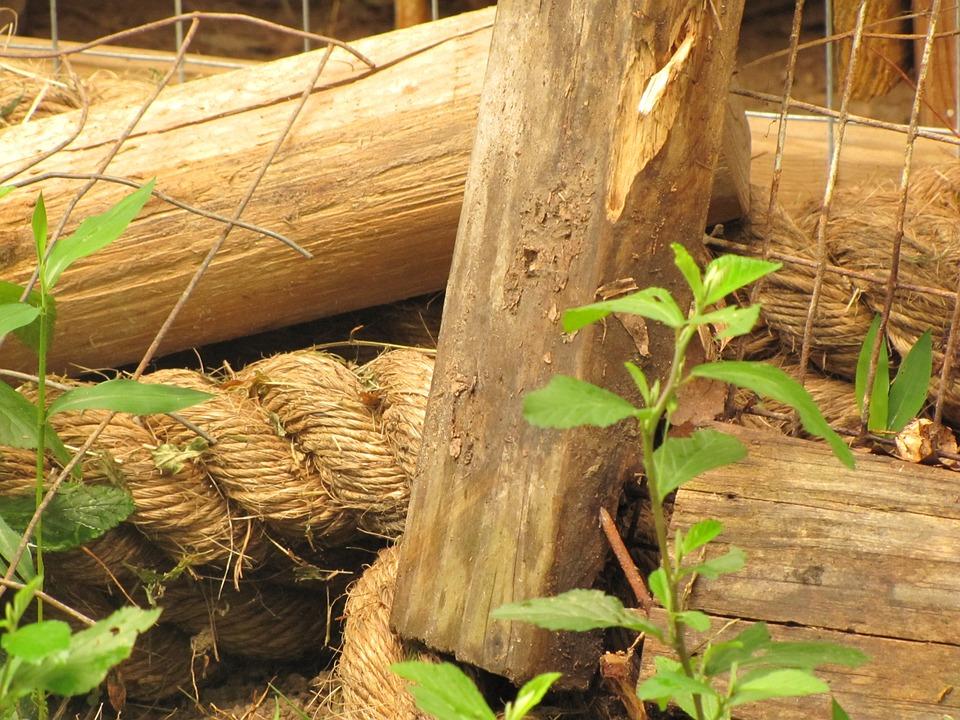 Old, Rope, Wood, Nature, Vintage, Wooden, Damaged, Aged