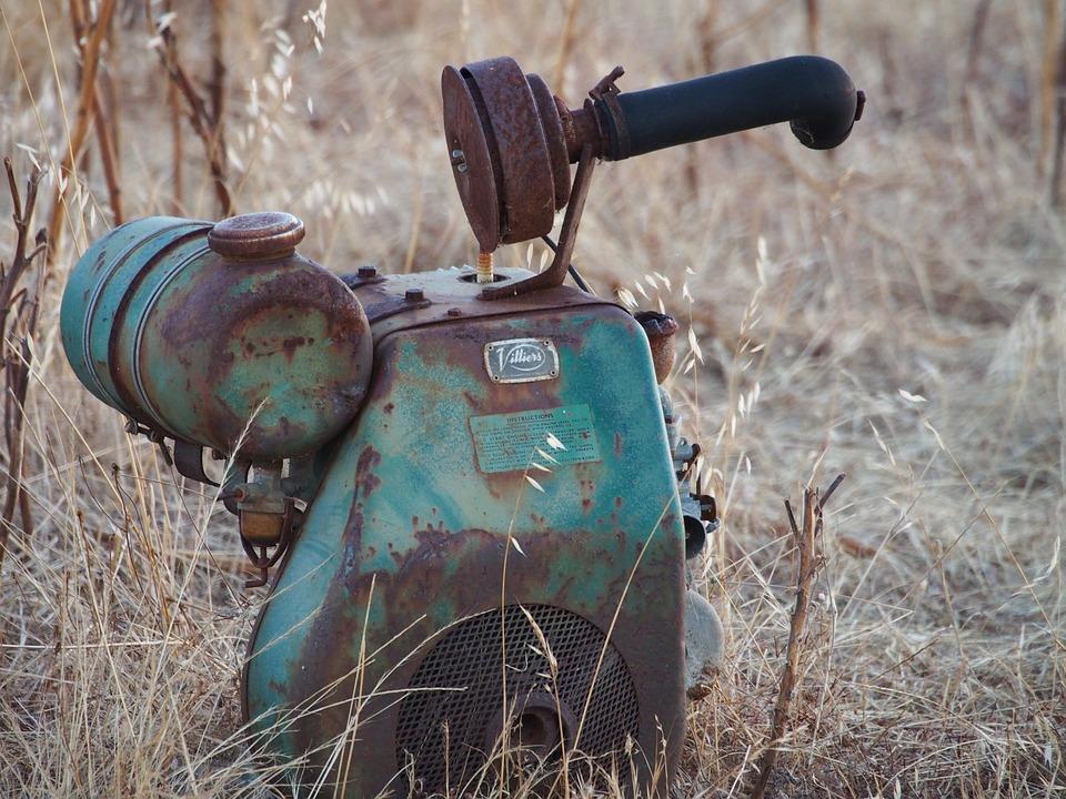 Old Motor, Vintage, Aged, Rusty, Abandoned