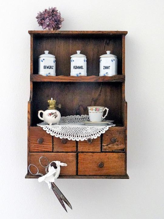 Vintage, Spice Cabinet, Antique, Farmhouse, Kitchen - Free Photo Vintage Antique Spice Cabinet Kitchen Farmhouse - Max Pixel