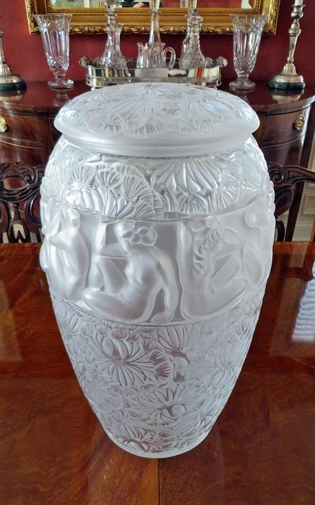 Free Photo Vintage Art Glass Vase Lalique Crystal Glass Max Pixel