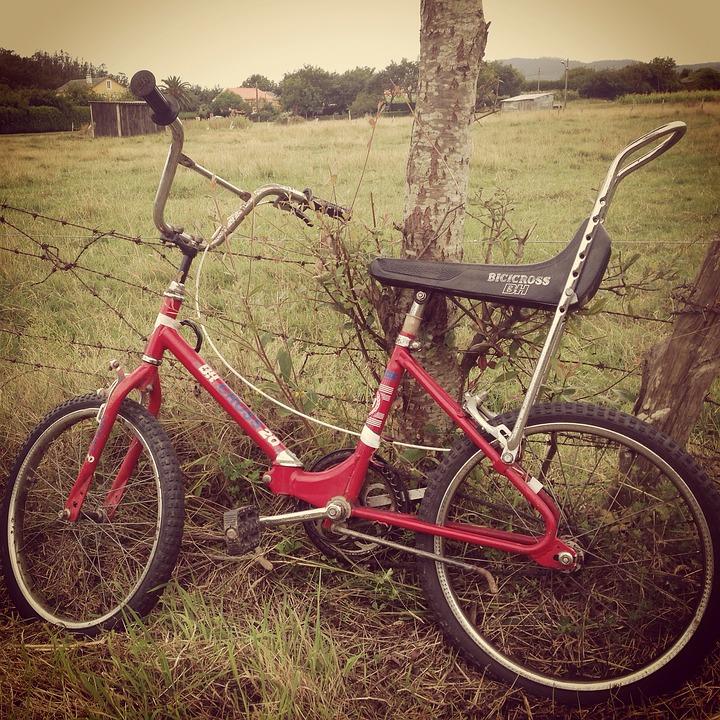 Bh, Bicycle, Vintage, Field