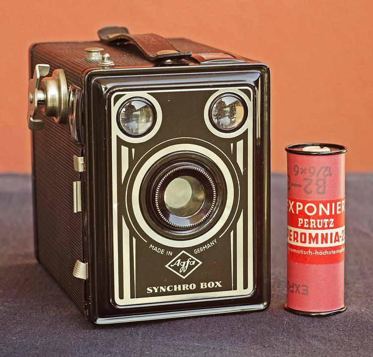 Vintage Box Camera, Agfa, Made In Germany, Roll Film