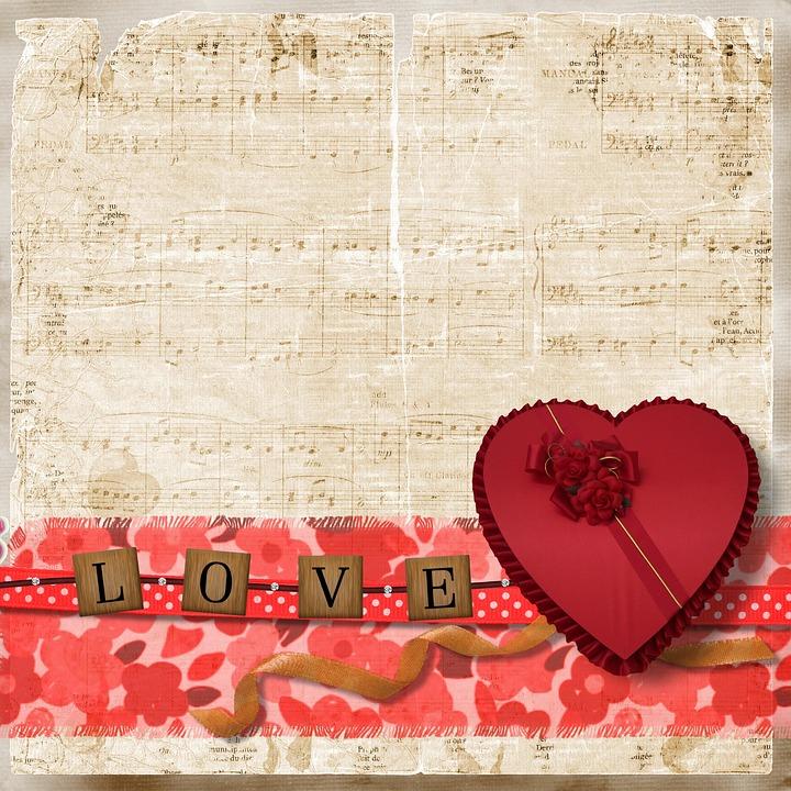 Vintage Heart Background Free photo Vint...