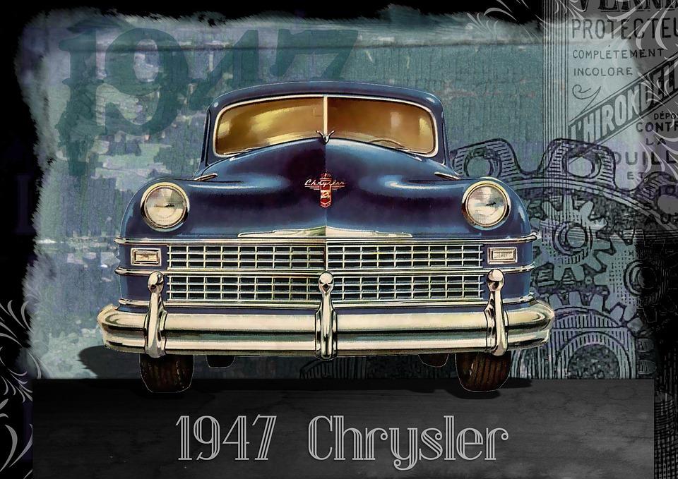 vintage car automobile chrysler 1940s vintage cars