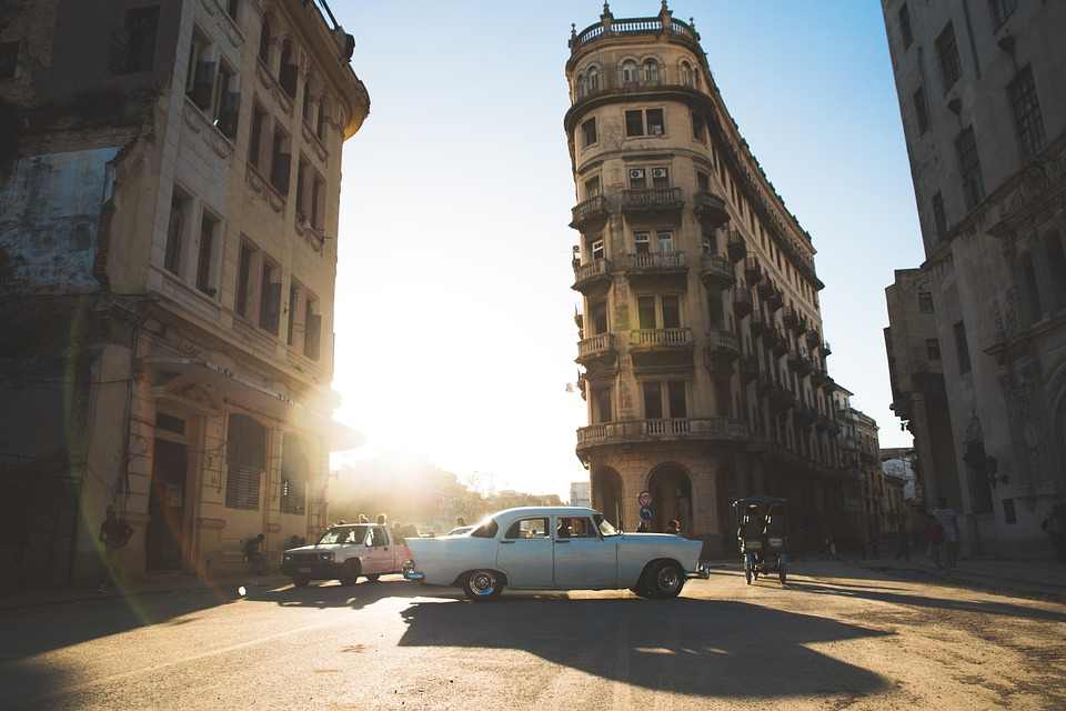 Vintage, Flare, Travel, Cars, Buildings, Architecture