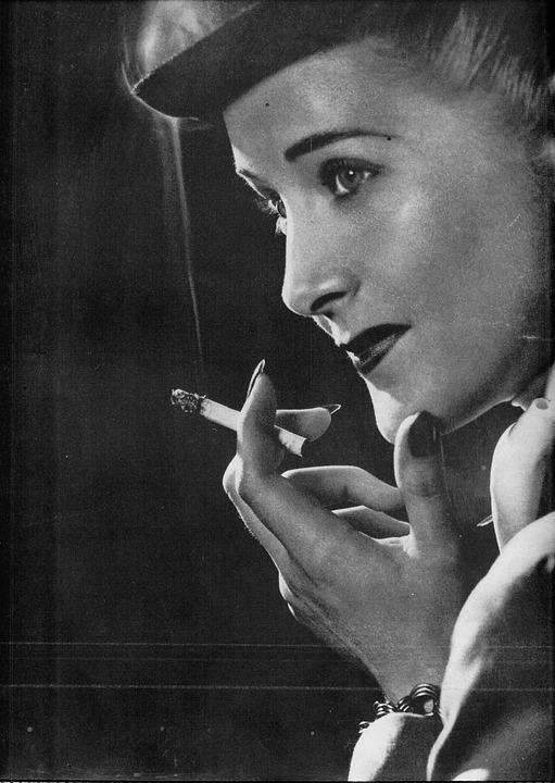 Smoking, Model, Vintage, Smoke, Cigarette, Retro