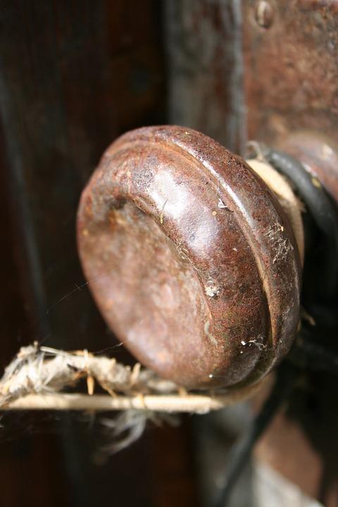 Rusty, Vintage, Antique, Doorknob, Deserted, Old, Rust