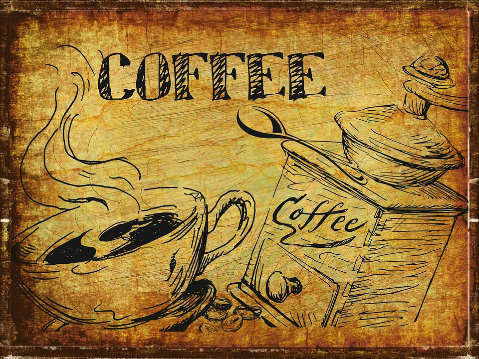 Coffee, Vintage, Cafe, Drink, Espresso, Design