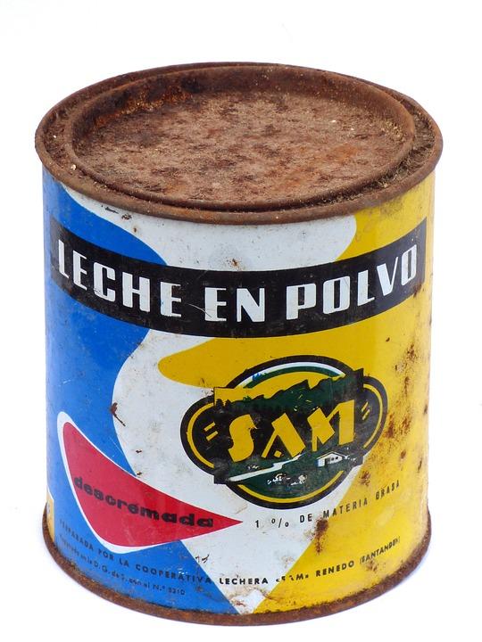 Can, Old, Vintage, Milk Powder, Design