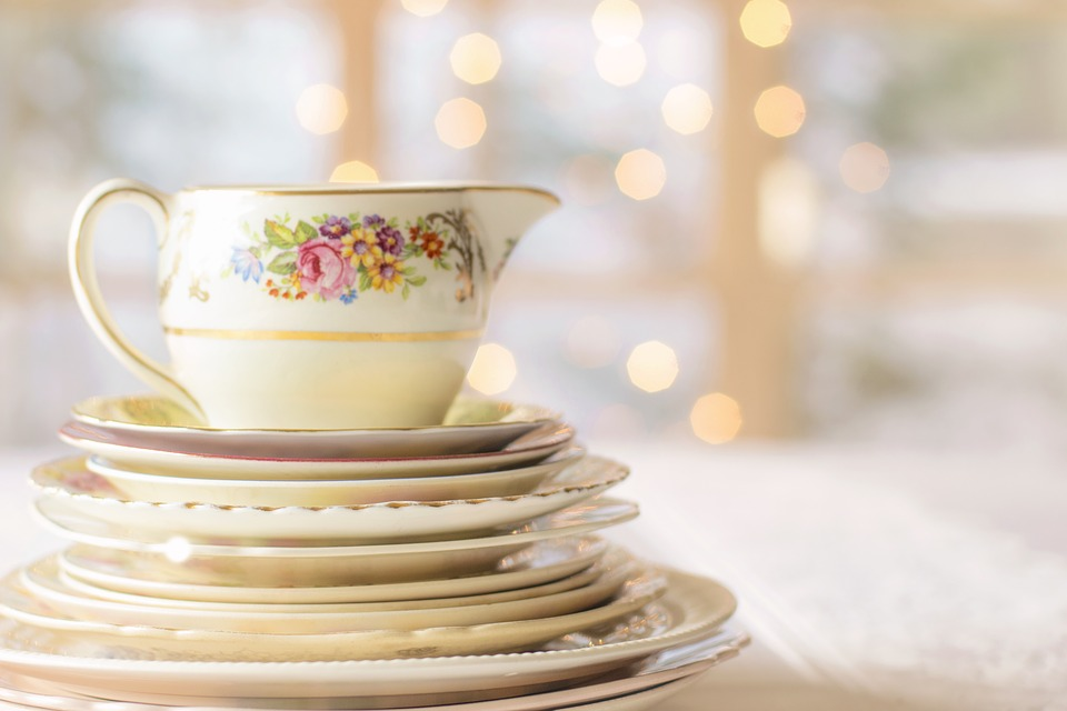 Vintage China, China, Dishes, Vintage Dishes, Table