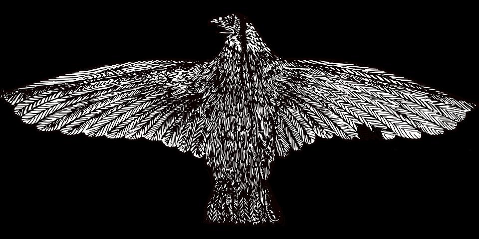 Vintage Illustration, Eagle, Vintage Eagle, Emblem