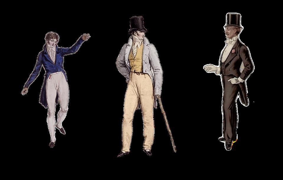 Vintage, Victorian, Men's, Fashion, Gentleman, Cylinder
