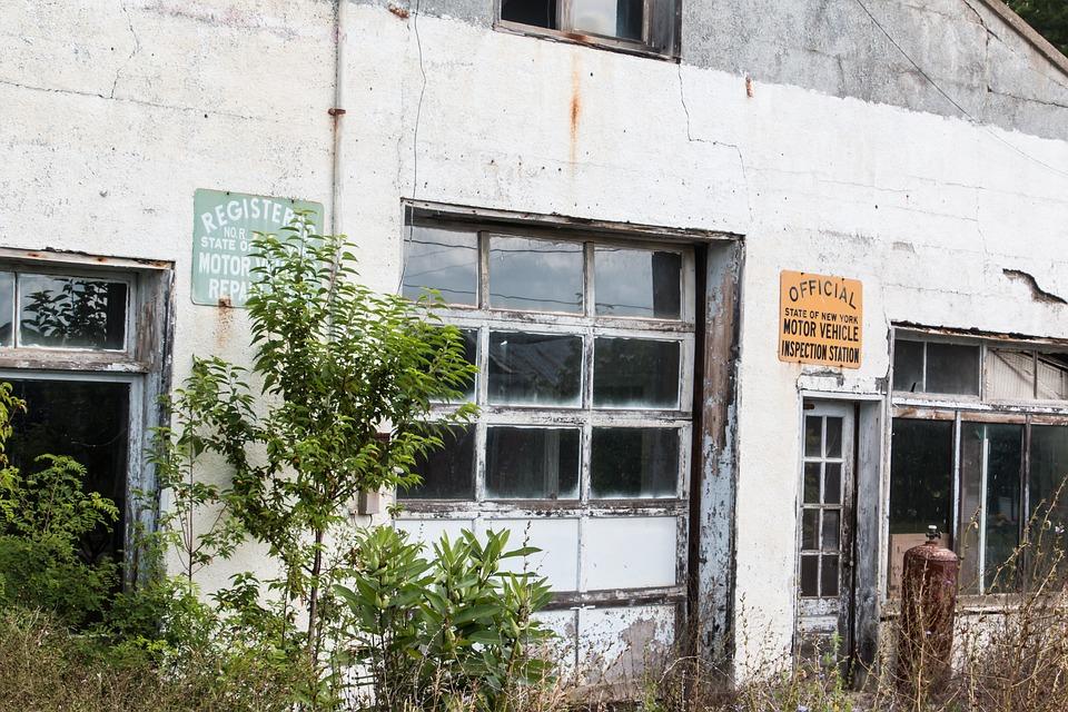Abandoned, Garage, Vintage