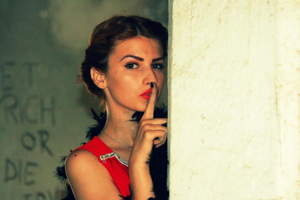 Girl, Vintage, Red, Seduction