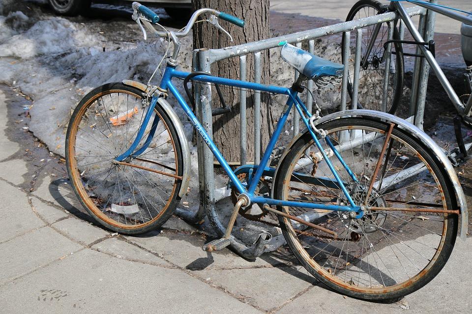 Bike, Old, Bicycle, Locked, Classic, Nostalgic, Vintage