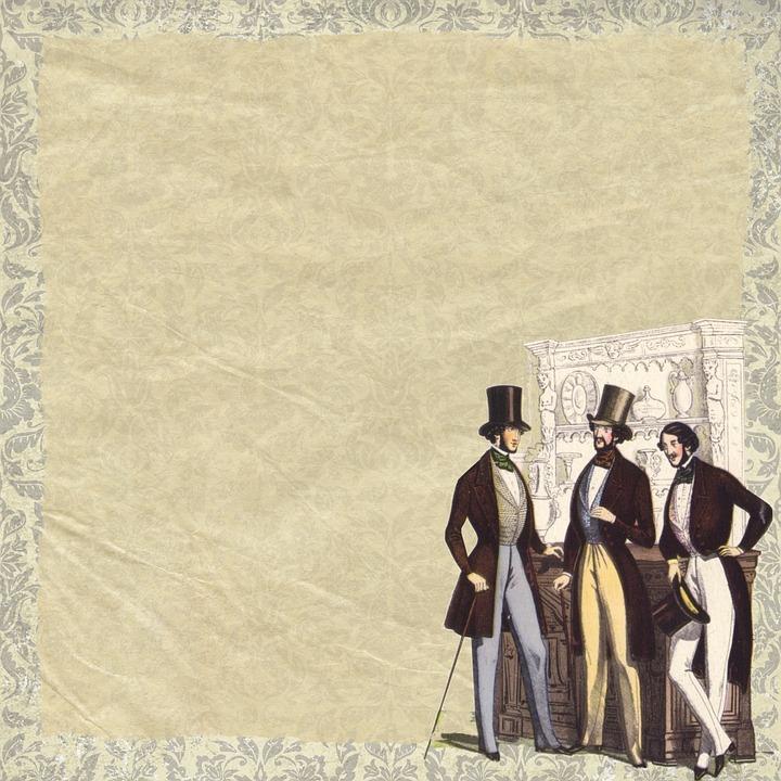 free photo vintage men background template top hat hat max pixel