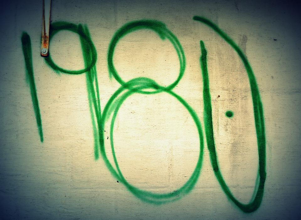 Graffiti, Vintage, 1980, Mural