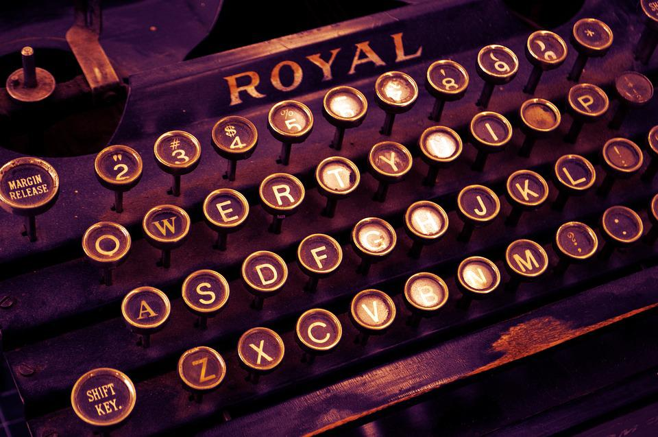 Typewriter, Vintage, Write, Letters, Letterpress, Old