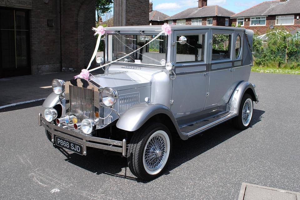 Free photo Vintage Old Wedding Silver Rolls-royce Car - Max Pixel