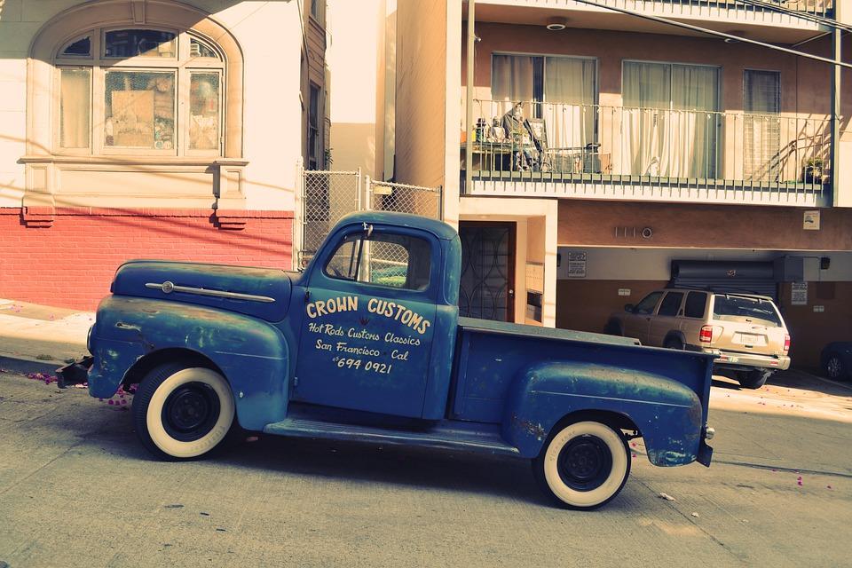 Free photo Vintage Oldtimer Hot Rod Truck Business Car - Max Pixel