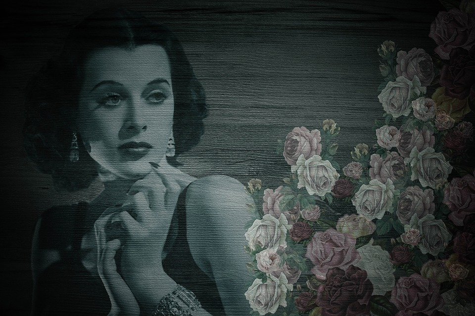 Hedy Lamarr, Actress, Vintage, Shabby Chic, On Wood