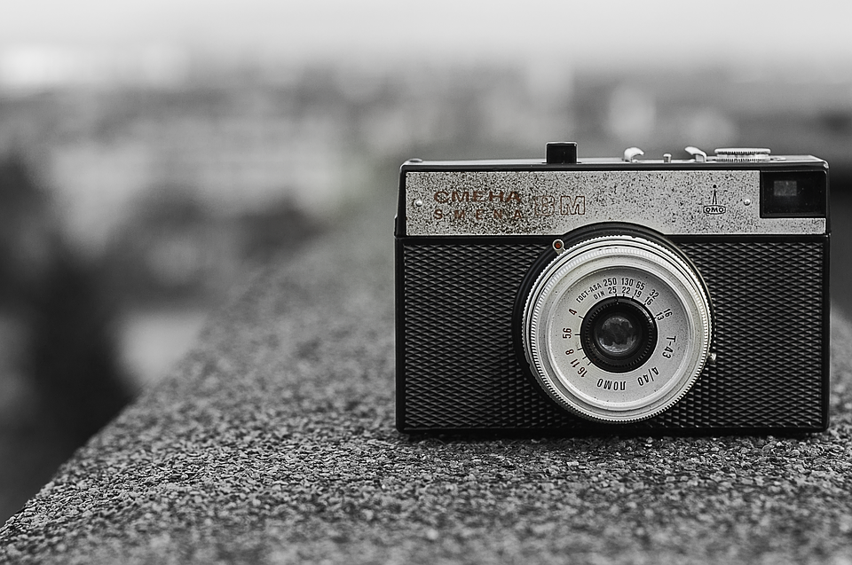 Black And White, Camera, Vintage, Picture, Photo