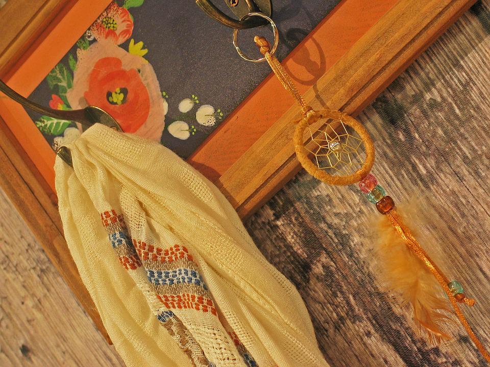 Coat Hooks, Wardrobe, Frame, Picture Frame, Vintage