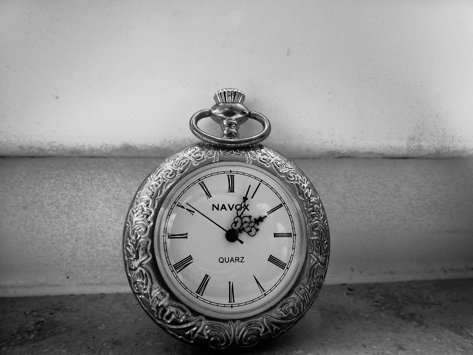 Pocket Watch, Vintage, Black, White, Sw, Retro, Antique
