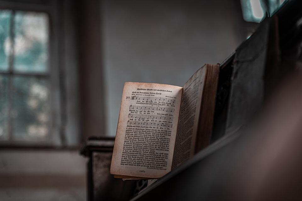 Book, Piano, Church, Old, Vintage, Retro, Antique