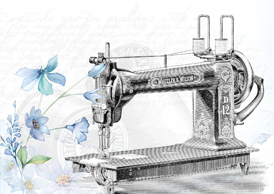 Vintage, Sewing, Machine, Sew, Needle, Clothing