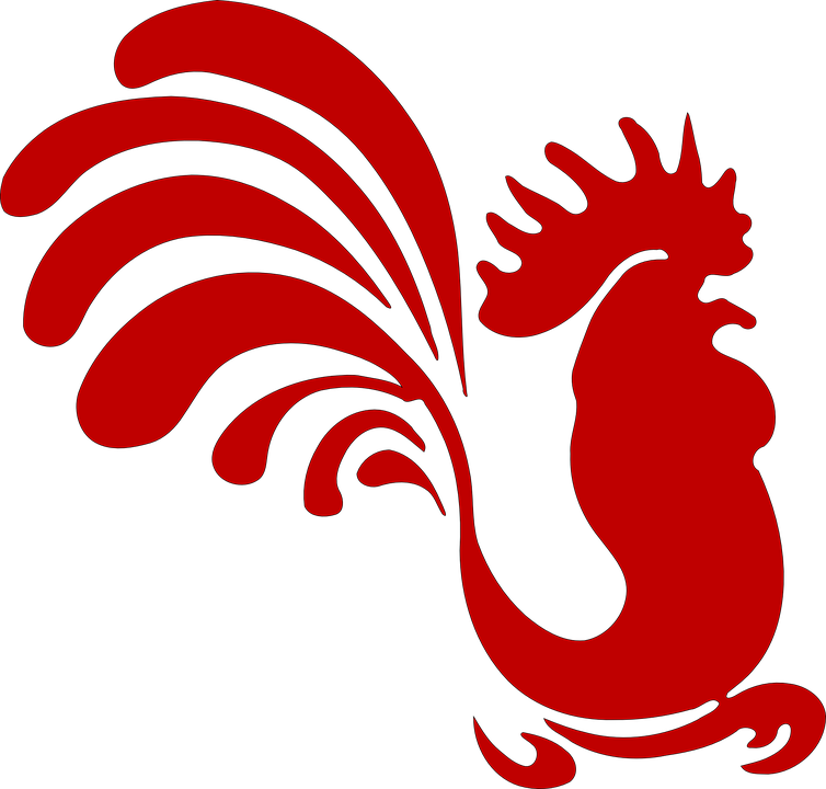 Rooster, Cock, Hen, Farm Animal, Silhouette, Vintage