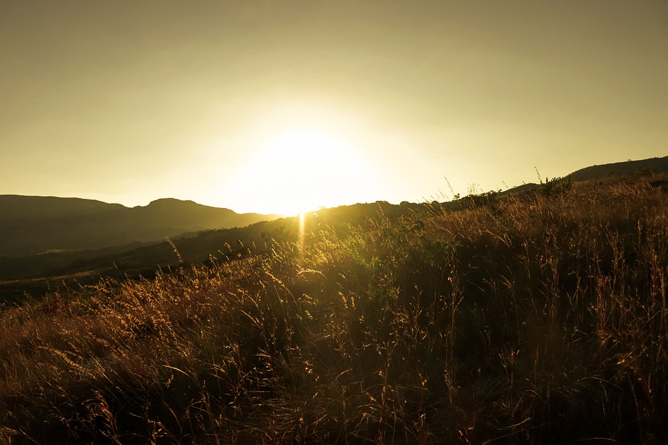Sol, Mountain, Eventide, Afternoon, Horizon, Vintage