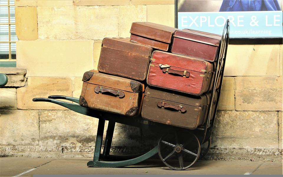 Suitcases, Travel, Vintage, Baggages, Old, Luggage