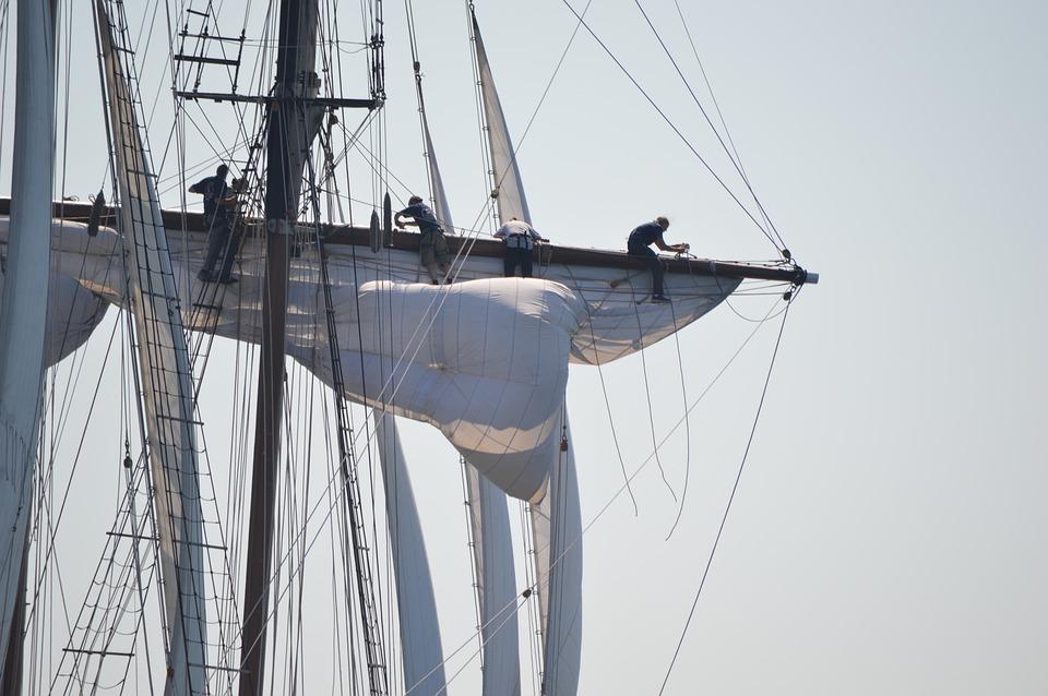 Tall Ship, Rigging, Sail, Spar, Vintage