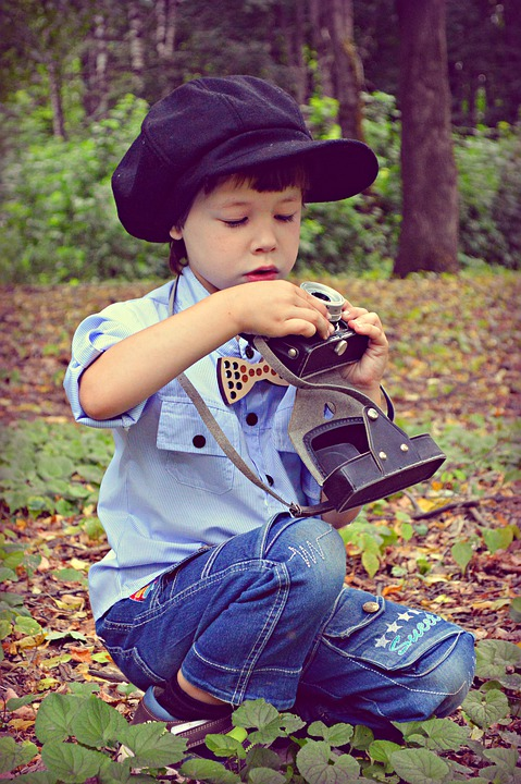Camera, Retro, Vintage, Technique, Cap, Forest, Old