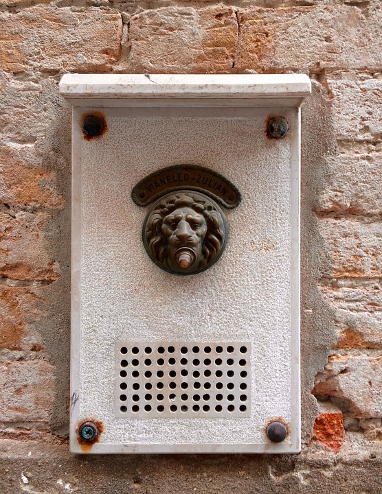 Door Bell, Venice, Lion, Vintage