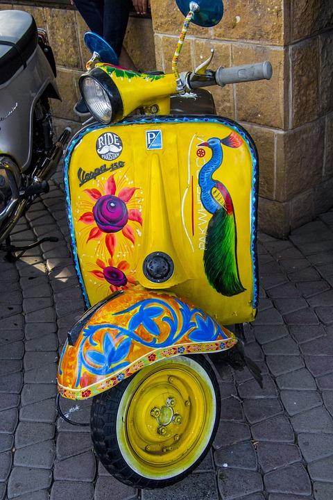 Vespa, Vintage, Vintage Bike, Local Art, Art, Bike Art