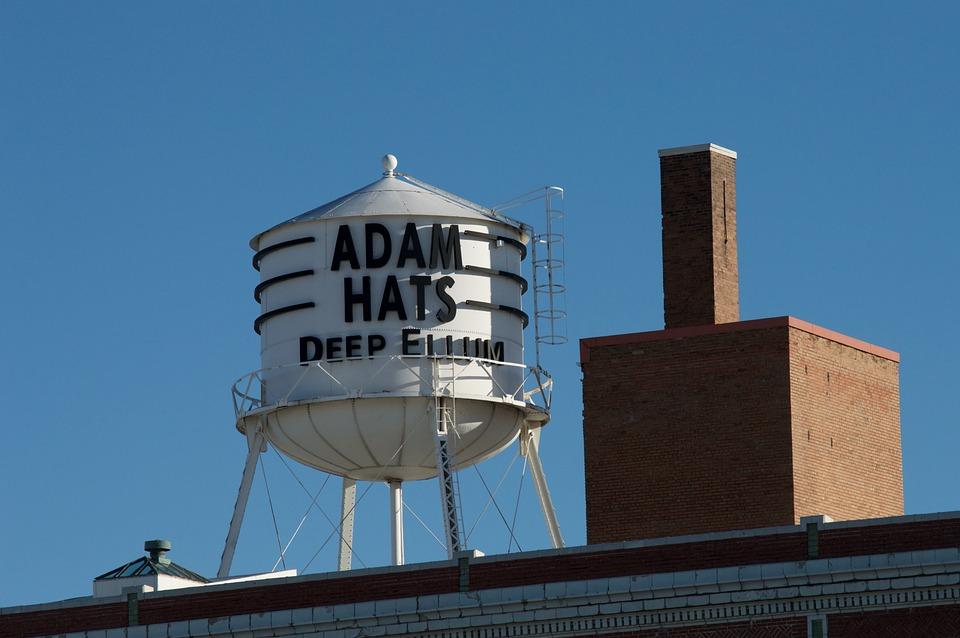Free photo Vintage Water Tower Deep Ellum Landmark Adams Hats - Max ... dba4897d25a
