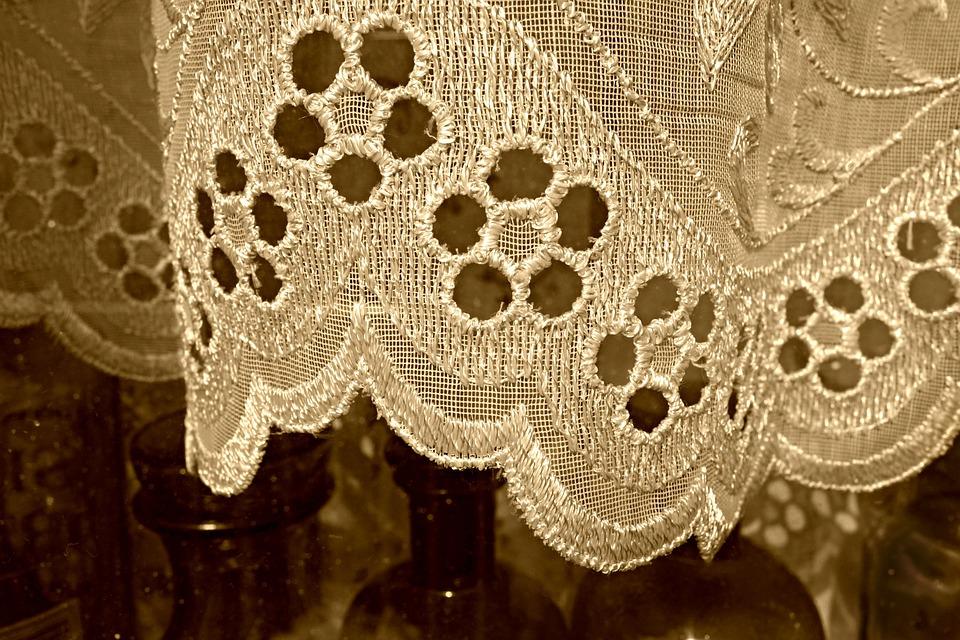 Curtain, Lace, Window, Decoration, Vintage, Woven