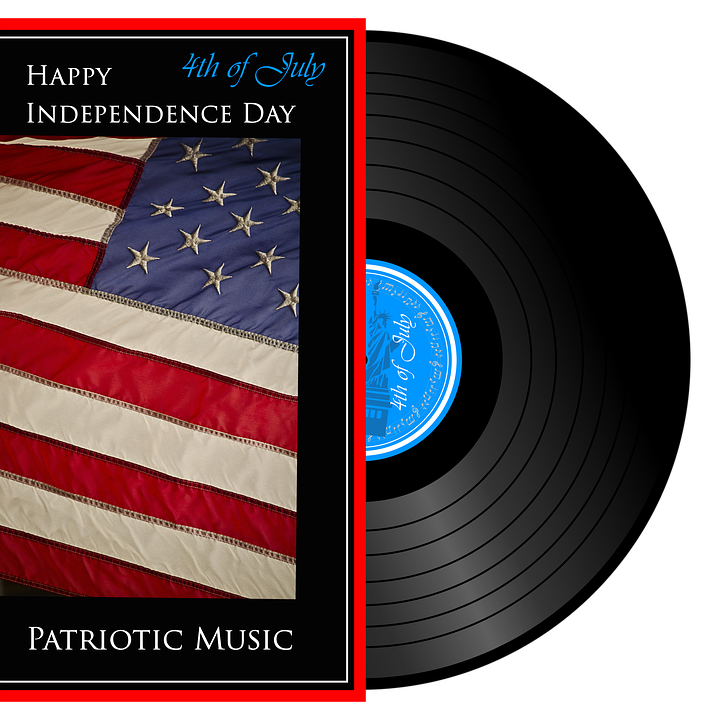 Independence Day, Vinyl, Music, Retro, Usa, Patriotic