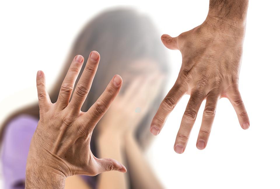 Violent, Woman, Man, Hand, Beat, Child