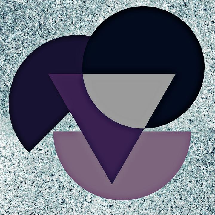 Circle, Half Circle, Colorful, Abstract, Color, Violet