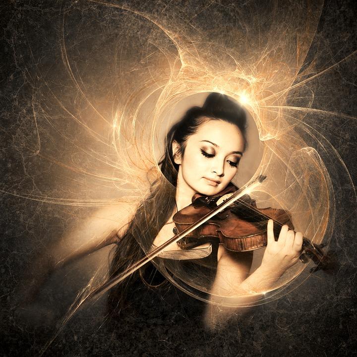 Cd Cover, Music, Violin, Woman, Light, Female